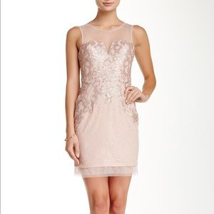 BCBGMAXAZRIA Abigail Embroidered Cocktail Dress